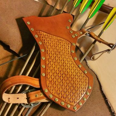 Custom Made Personalized Mounted Archery Quiver - Drop Leg Style