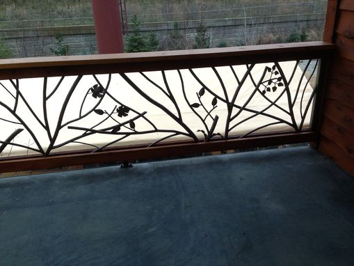Handmade Tree Branch Railing By Decorative Metal Works