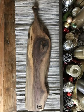 Custom Made - The Sophia - Baguette Walnut Cutting/Serving Board With Long Handle
