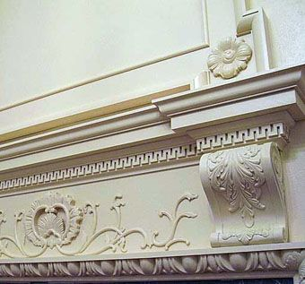 Custom Made Philadelphia Rococo Inspired Fireplace Surround