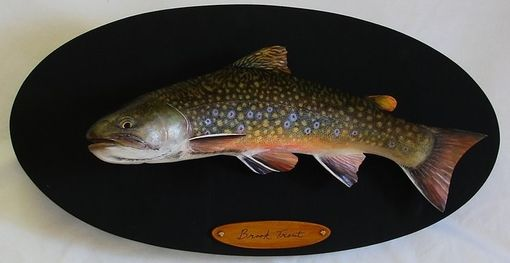 "Custom Made 20"" Hand-Carved Brook Trout"