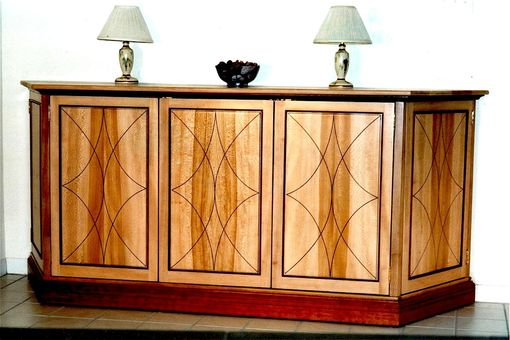 Custom Made Buffet W/ String Inlay Doors