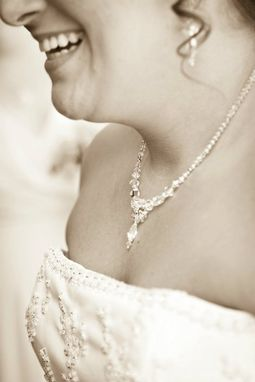 Custom Made Custom Swarovski Crystal Beaded Bridal Necklace