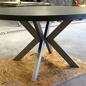 Concrete Dining Tables CustomMadecom - Concrete and metal dining table