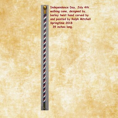 Custom Made July 4th Independence Day Walking Cane