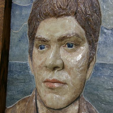 Custom Made Ceramic Tile Relief Portrait