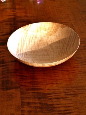 Custom Made Thin Edge Maple Bowl