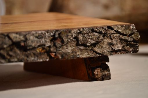 Buy A Custom Wild Cherry Natural Edge Bark On Footed