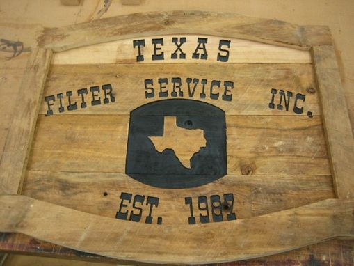 Custom Made Business Sign Made From Reclaimed Cypress.