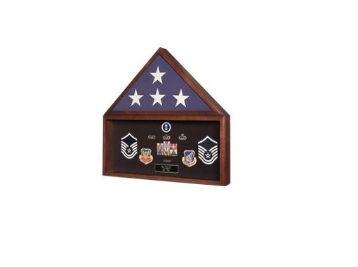 Custom Made Large Flag And Medal Display Case For 5ft X 9 Ft Flag
