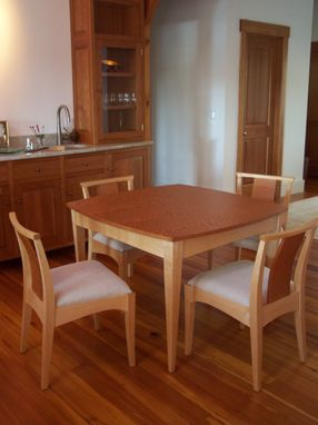 Custom Made Curvy, Square Small Dining Table And Chairs