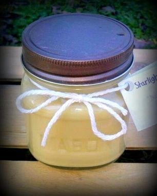 Custom Made 8oz Soy Candles In Mason Jars
