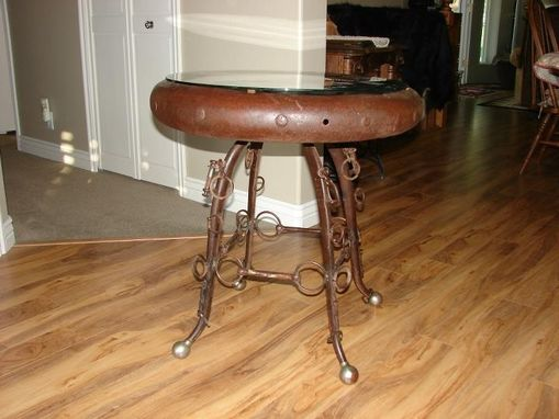 Custom Made Wagon Wheel Table
