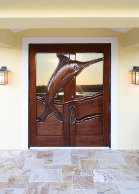 "Custom Made Custom Door ""Old Man And The Sea"""