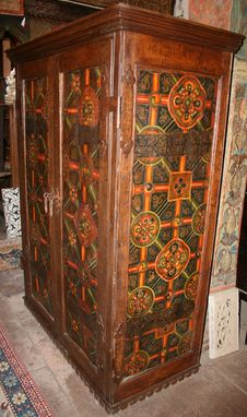 Custom Made Tibetan Panel Armoire