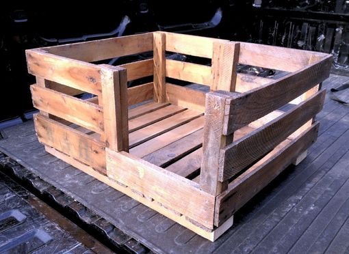 Custom Made Retired Produce Crate Dog Bed