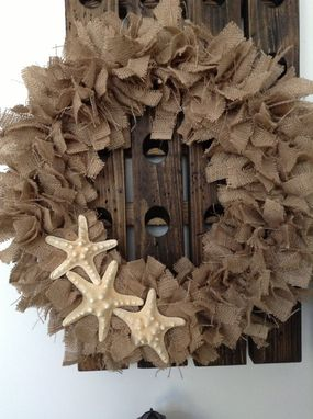 Custom Made 24in Burlap Rag Beach Wreath