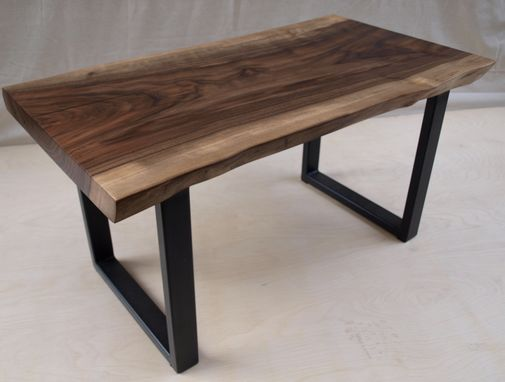 Custom Made Live Edge Walnut Bench Or Small Coffee Table