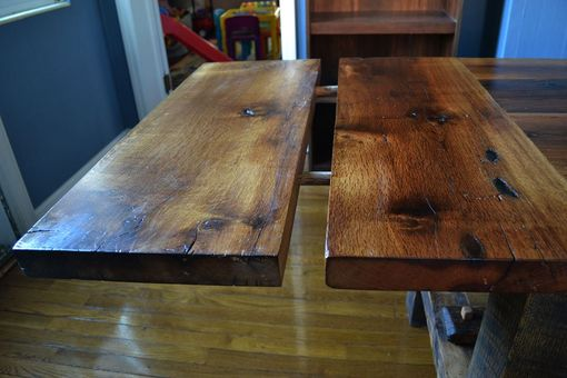 Custom Made Authentic Barn Wood White Oak Farmhouse Table