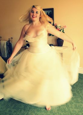Custom Made Custom Made To Fit Fine Bridal Tulle Petticoat -Full Length