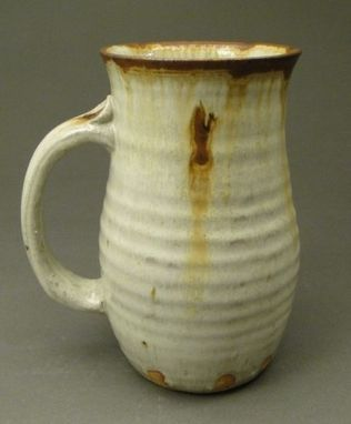 Custom Made Nuka Glazed, Cream Colored Beer Mug With Iron Rust Stain (Sku 56)