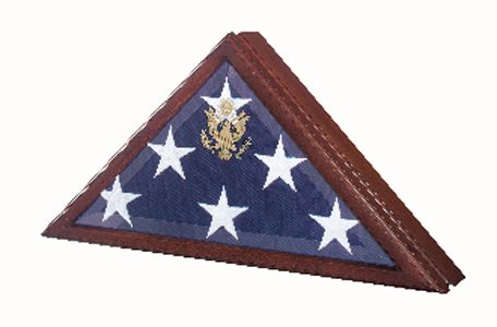 Custom Made Flag Case Pedestal For 5 X 9.5 Flag - Burial Flag