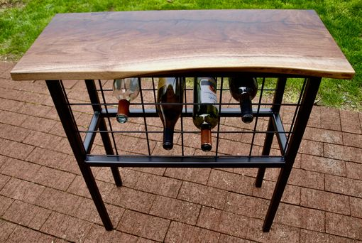 Custom Made Live Edge Console Table/Wine Storage