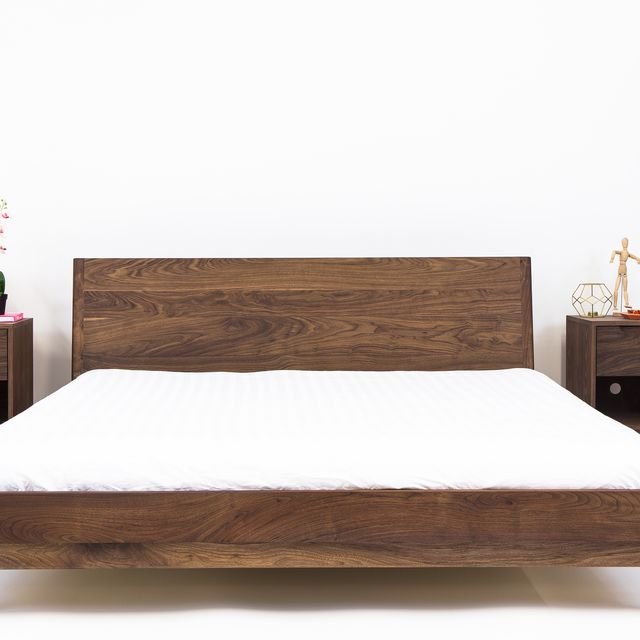 A Custom The Bosco Mid Century Modern Solid Walnut Bed Made To Order From Moderncre8ve Custommade