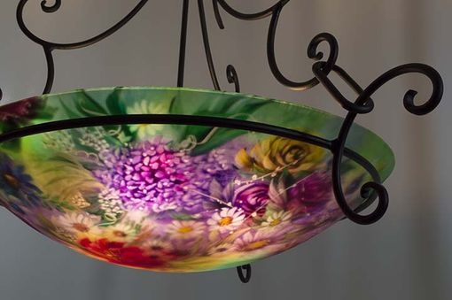 Custom Made Northwest Mixed Floral Hand Painted Chandelier