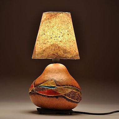 Custom Made Gourd Lamp Country Design