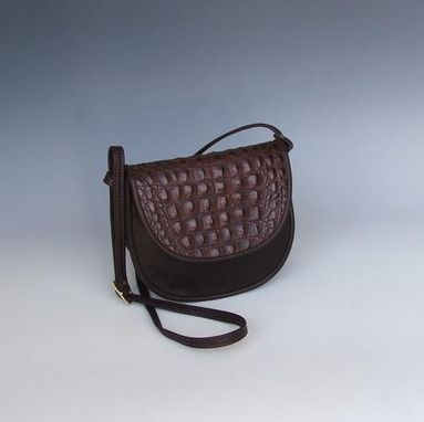 Custom Made Cory- Leather Puser- Burgundy With Burgundy Croco Accent