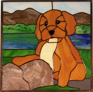 Custom Made Stained Glass Pet Portrait