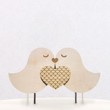 Custom Made Love Birds Cake Topper