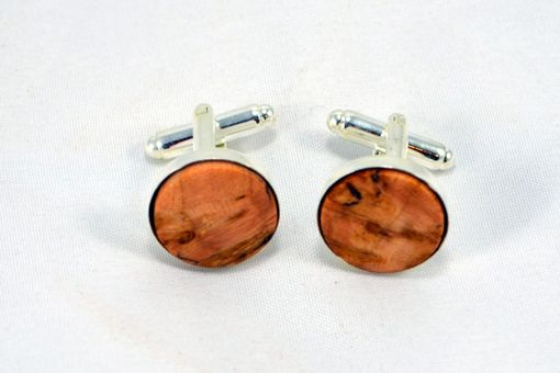 Custom Made Cufflinks Made From Bocote, Olivewood And Maple