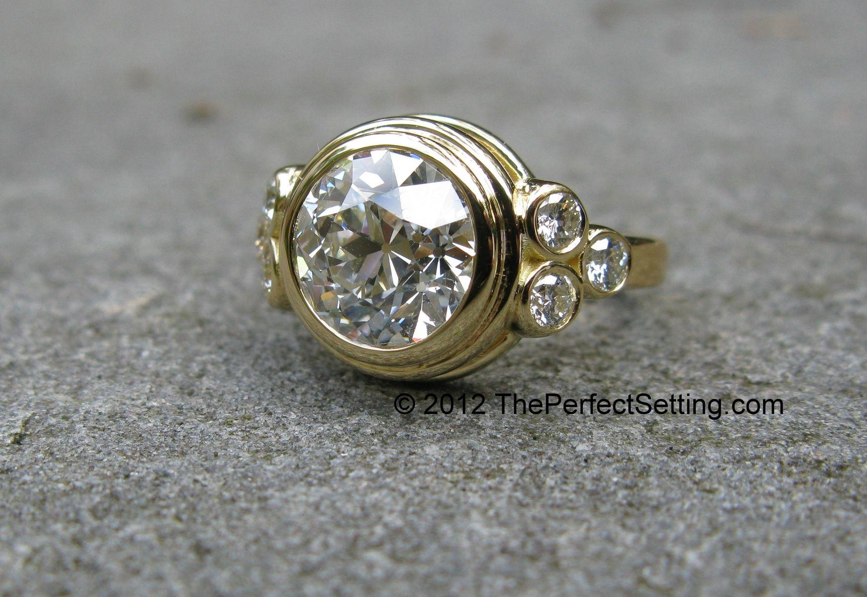handmade custom gold and diamond engagement anniversary. Black Bedroom Furniture Sets. Home Design Ideas