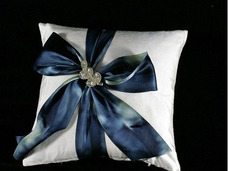 Custom Made Specialty: White Winter Silk Pillow