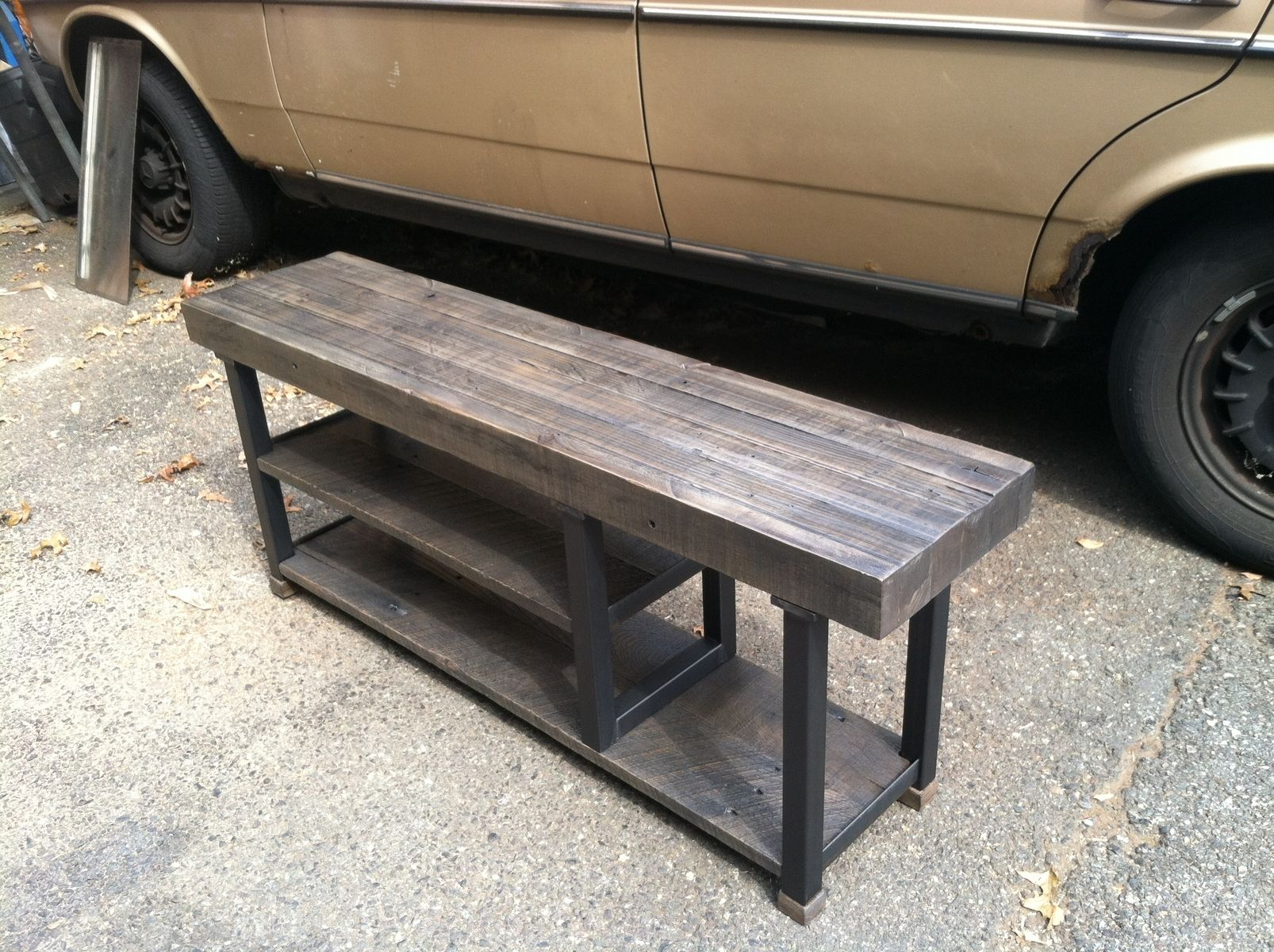 Custom Made Reclaimed Wood Storage Bench