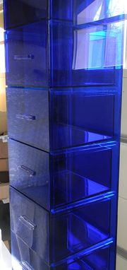 Custom Made Acrylic Storage Unit - Hand Crafted, Made To Order, Size And Style Options For All Designs