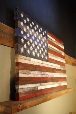 Custom Made One Of A Kind Us Flags Made From Reclaimed Barnwood!!
