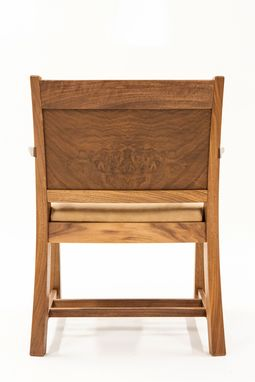 Custom Made Walnut Captains Chair