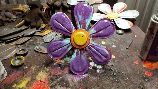 Custom Made Metal Flower Wall Art