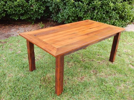 Custom Made Reclaimed Poplar Dining Table W/ Matching Bench