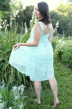 Custom Made Vintage 50s Slip And Robe Aqua Blue Lace And Chiffon Bridal Lingerie Peignoir Set S M