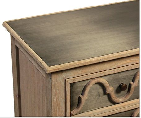 Custom Made Daphne Petite Zinc 3 Drawer Dresser