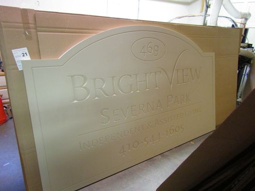 Custom Made Vcarved Hdu Outdoor Sign