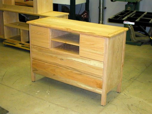 Custom Made Oak Entertainment Center