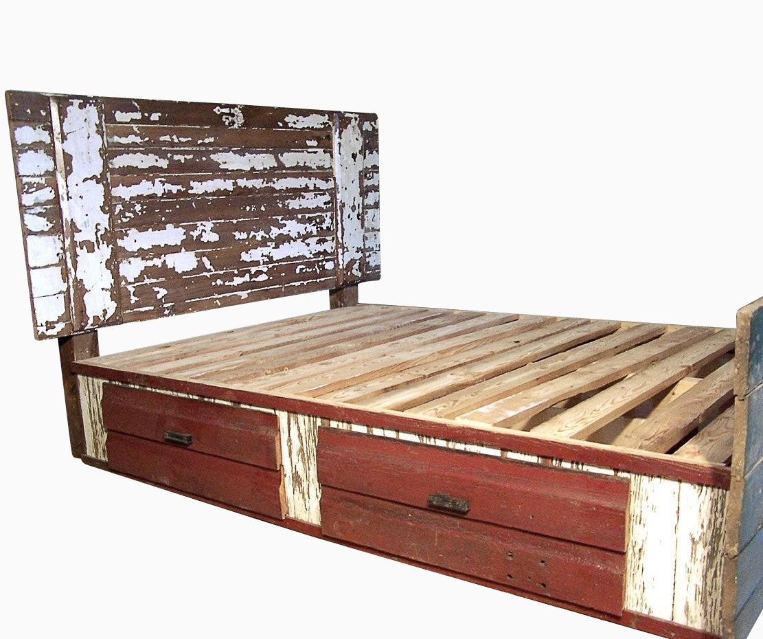 Buy A Custom Made Shabby Chic Barn Door Bed Made To Order From The