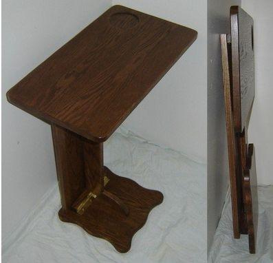 Hand Made New Solid Oak Wood Folding Sofa Server Tv Rv