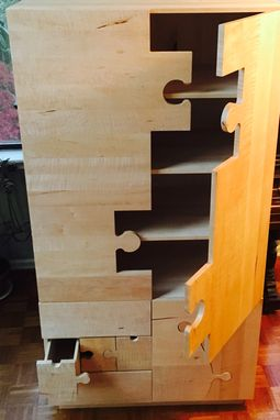 Custom Made Jigsaw Puzzle Armoire