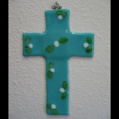 Custom Made Teal Fused Cross